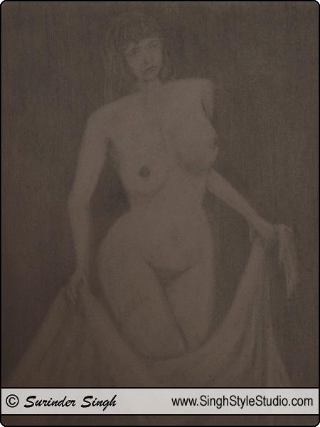 Dibujo desnudo, Delhi, India