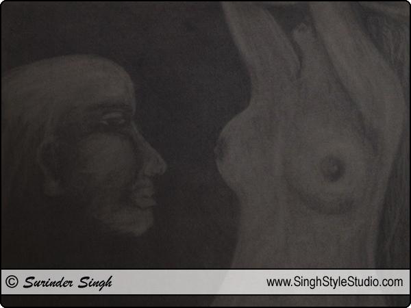 Dibujo figurativo Nueva Delhi India